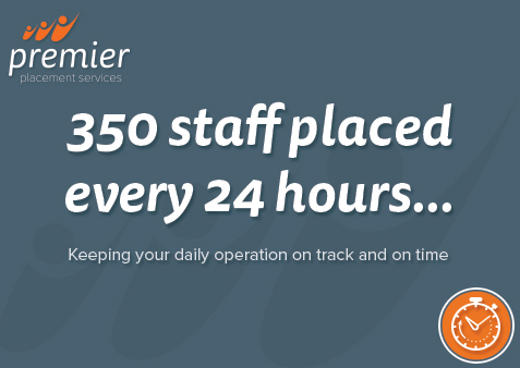 350 staff placed every 24 hours